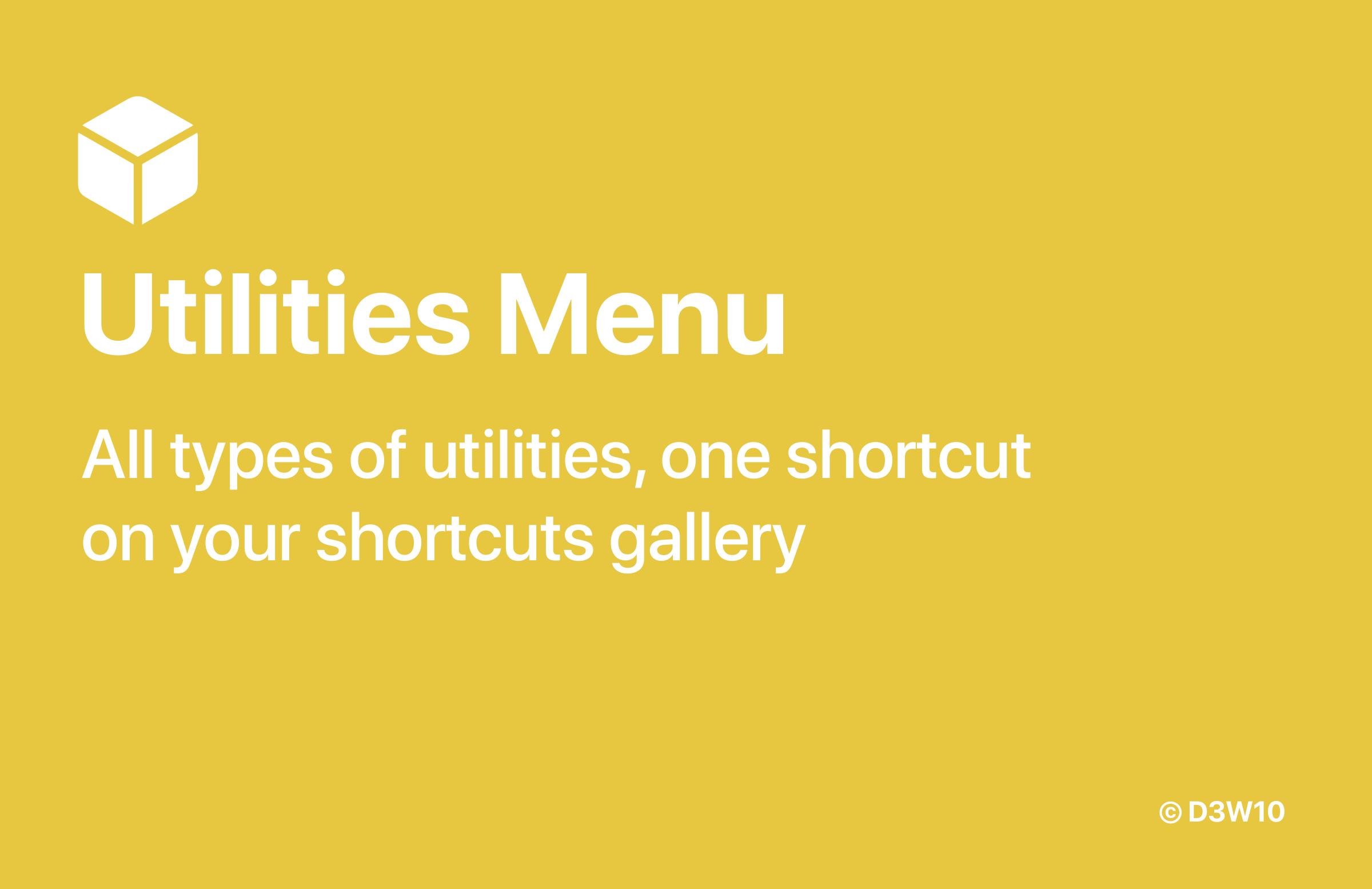 Utilities Menu Banner